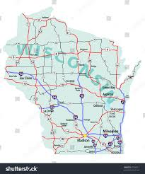 Lacrosse Wisconsin Map by Wisconsin State Road Map Interstates Us Stock Vector 57536212