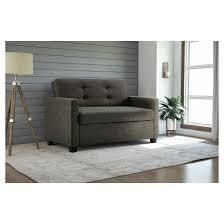 devon sleepersofa twin grey linen dorel home products target