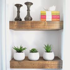 Floating Wood Shelves Diy by
