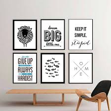 living room prints modern nordic minimalist black and white canvas painting posters