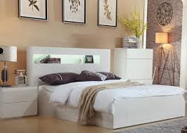 queen bed with gas lift head storage foot end drawer gloss white