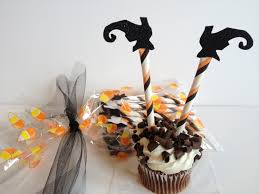 sale halloween cupcake toppers witch legs cupcakes topper glitter