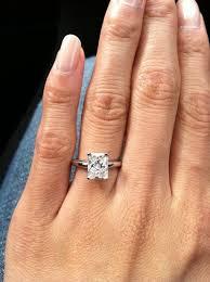 radiant cut engagement ring 1 6 carat rectangular radiant engagement ring