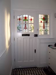 1930s door with stained glass design vintage mirrors vintage
