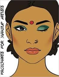 Books For Makeup Artists Facecharts For Makeup Artists Shea Blank Makeup Face Charts