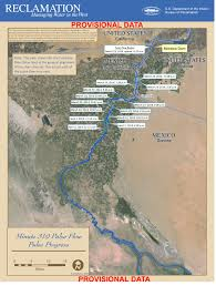 Map Of Colorado River by Will The Colorado River Delta Pulse Flow Make It To The Sea