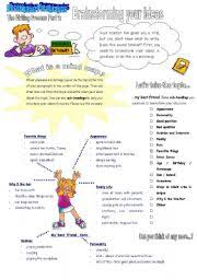 english teaching worksheets brainstorming