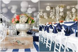 nautical weddings wedding in coral and navy