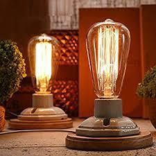 Edison Bulb Table Lamp Oldham Industrial Uplight 9 1 2