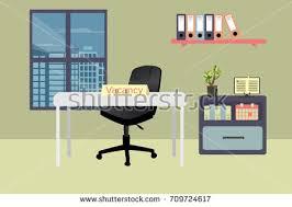 Vacancy For Interior Designer Interior Office Two Chairsvector Illustration Design Stock Vector
