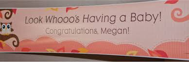 baby shower banner ideas owl girl baby shower ideas big dot of happiness