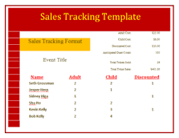 weekly sales tracking template free word templates