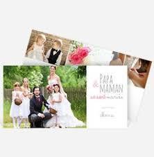 modele remerciement mariage une carte de remerciement de mariage moderne avec six photos au