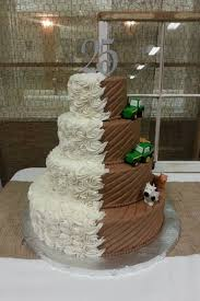 john deere wedding cake toppers farm wedding cake topper with