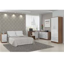 walnut and white bedroom furniture cream gloss and walnut bedroom furniture