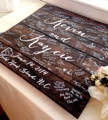 personalized wedding guest book custom wedding guestbook wood sign gifts for the custom
