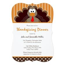 turkey thanksgiving potluck card zazzle
