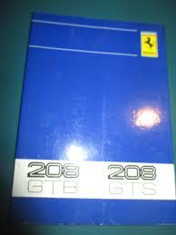 ferrari 1981 208 gtb gts owners manual uso e manutenzione