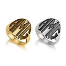 monogram ring block monogram ring