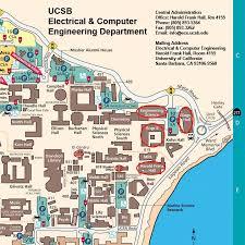 santa barbara california map directions electrical and computer engineering uc santa barbara