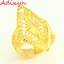 girls gold rings images Resizable 24k gold color ring for women party jewelry ethiopian jpg