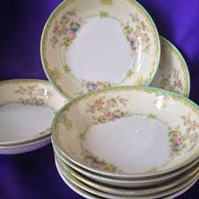 Vintage China Patterns by Meito Japan Nsp Berry Bowls Set Of Three Hand Painted Mid Century