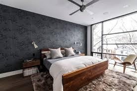 papier peint chambre à coucher papier peint noir 40 idées pour un design mural spectaculaire