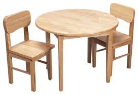 tables and chairs gift mark home kids natural hardwood round table and chair set