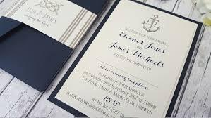 handmade wedding invitations pocketfold invitations nautical