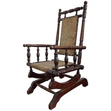 Country Song Rocking Chair Rare Antique Rocking Chair For Children American Rocker For Child