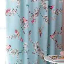 beautiful birds duck egg thermal pencil pleat curtains dunelm