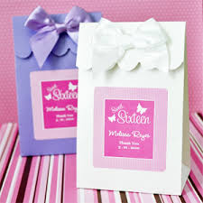 personalized sweet sixteen favor bags 12 pcs favor bags
