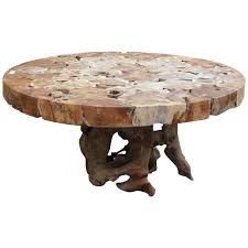 tree cross section table cross section top lychee wood dining table on organic form base for