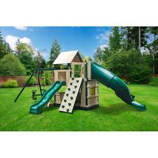 Backyard Discovery Winchester Playhouse 9 To 10 Year Old Swing Sets You U0027ll Love Wayfair