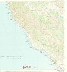 Cambria Map 1967 E California Coastline University Library