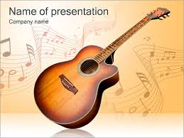 guitar music powerpoint template u0026 backgrounds id 0000002560