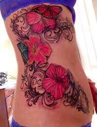 35 black grey and colorful hibiscus tattoos