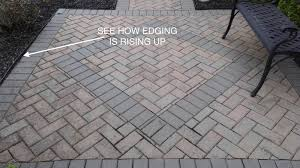 Brick Paver Patio Installation Choosing And Installing The Right Paver Edging Paver Restraint