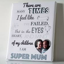 Mother S Day Gift Quotes Personalised Mothers Day Gift Super Mum Quote