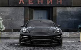 Black Porsche Panamera Turbo Front Wallpapers Black Porsche