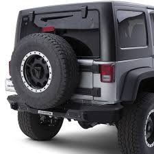 jeep rhino color 2017 go rhino jeep wrangler 2007 2017 brj80 black rear modular bumper