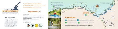 Kayak Map Kayak Camping Nature Plein Air