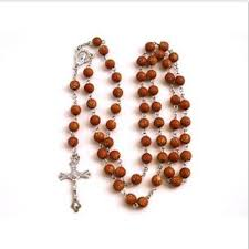buy rosary brown acrylic crucifix rosary cross necklace buy beautiful
