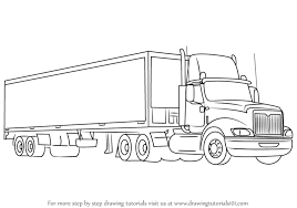 coloring pages delightful steps to draw a truck how and trailer