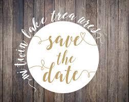 Save A Date Sticker