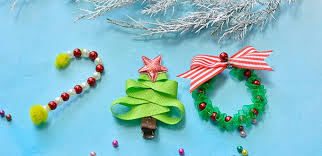 easy diy project how to make cute christmas hair clips for kids