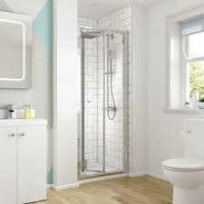 Frameless Bifold Shower Door Wickes Square Bi Fold Semi Frameless Recess Shower Door Chrome