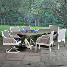 Swivel Wicker Patio Chairs by Mooring Cushioned Wicker Patio Dining Set Libby Langdon Patio Set
