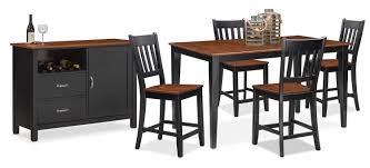 Value City Dining Room Furniture The Nantucket Counter Height Dining Collection Black And Cherry
