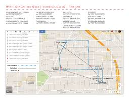 West Chicago Map by West Loop Gallery Walk